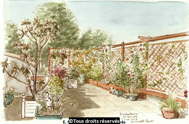 La terrasse de mes parents à Bois Guillaume (près de Rouen).Mai 2007. Collection Jacques et Michèle Masset